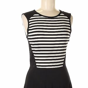 Cynthia Rowley black and white skater dress XS